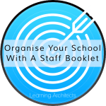 organise your school with a staff booklet