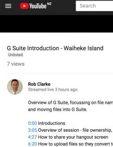 Waiheke Primary online meeting