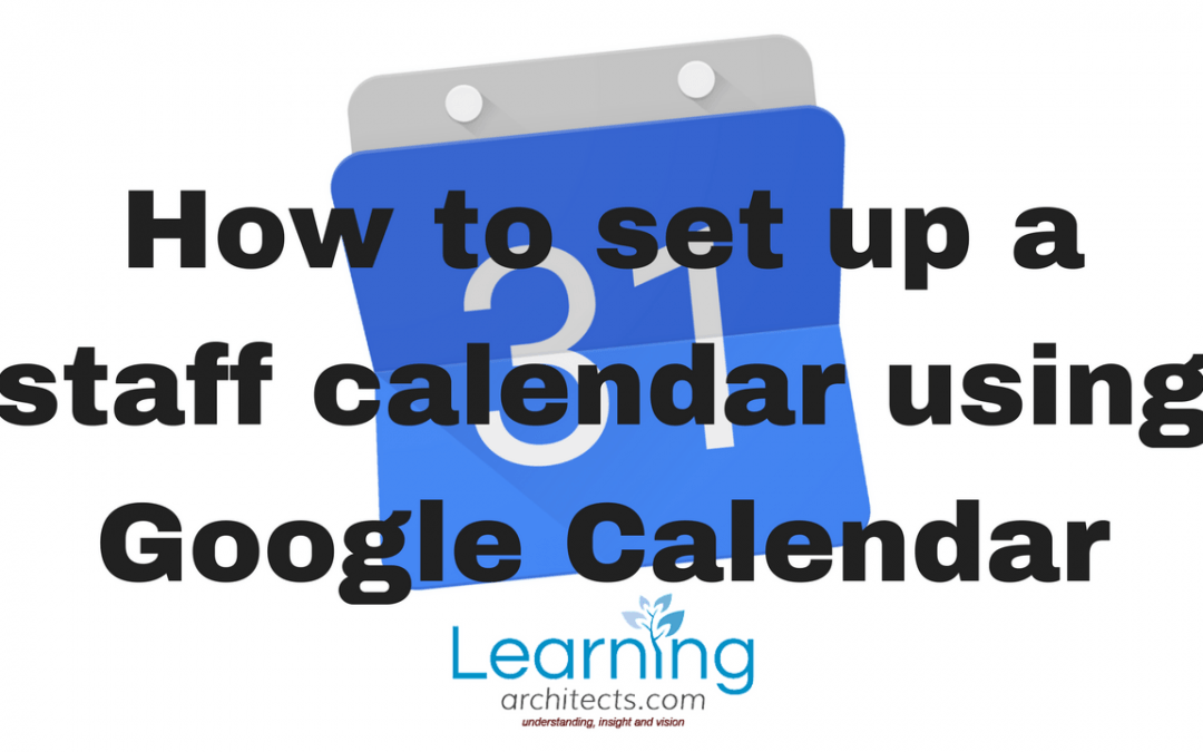 How to set up a Staff Calendar