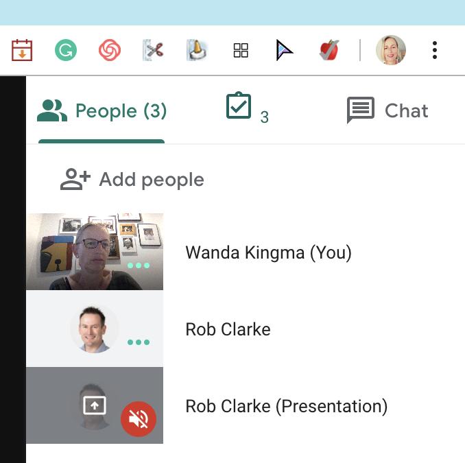 Collect attendance from inside a Google Meet