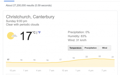 Quickly check the weather using Google search