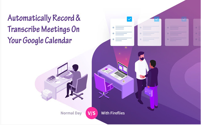 Add a button to Google Calendar that enables you to transcribe virtual meetings