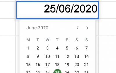 Stop typing dates into cells – use the date picker