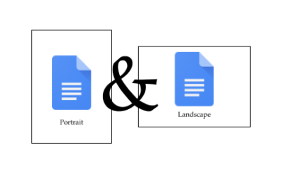 Multiple page orientations in Google Docs