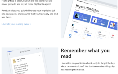 Revisit your highlights, remember what you e-read with readwise.io