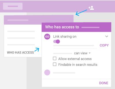 Google Drive > Team Drives > Share a link